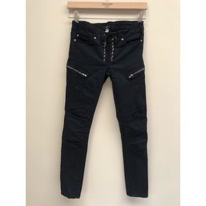BDG Urban Outfitters Black Lace Up Jeans 24